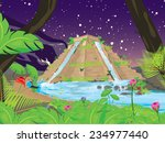 hanging gardens of babylon... | Shutterstock . vector #234977440