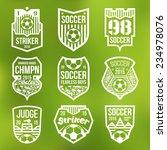soccer emblems in flat style.... | Shutterstock .eps vector #234978076