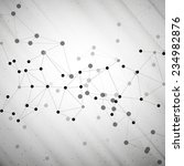 molecule structure  gray...   Shutterstock . vector #234982876
