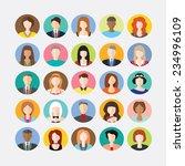 big set of avatars profile...   Shutterstock .eps vector #234996109