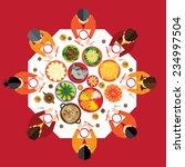 chinese new year reunion dinner ... | Shutterstock .eps vector #234997504