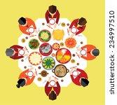 chinese new year reunion dinner ... | Shutterstock .eps vector #234997510