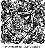 illustration with black... | Shutterstock .eps vector #234998596