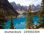moraine lake | Shutterstock . vector #235002304