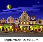 night city background | Shutterstock .eps vector #235011874