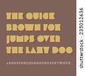 vector alphabet. eps8. rgb.... | Shutterstock .eps vector #235012636