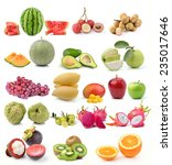 set of fruit on white background | Shutterstock . vector #235017646