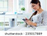 portrait of beautiful young... | Shutterstock . vector #235017889