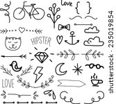 vintage hipster icon set | Shutterstock .eps vector #235019854
