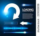 set of preloaders for loading... | Shutterstock .eps vector #235020058