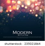 shining bokeh illustration.... | Shutterstock .eps vector #235021864