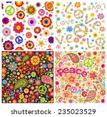 wallpapers with hippie symbolic | Shutterstock .eps vector #235023529