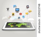abstract scheme of modern... | Shutterstock .eps vector #235023748