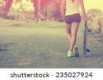 beautiful skater girl in summer