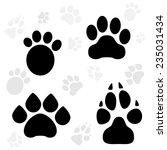 paws and claws print | Shutterstock .eps vector #235031434