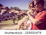 feeding giraffes | Shutterstock . vector #235031479