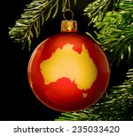 A Red Bauble With The Golden...