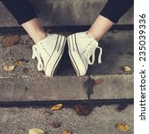 vintage women's shoes | Shutterstock . vector #235039336