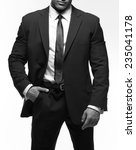 closeup of a strong man in a...   Shutterstock . vector #235041178