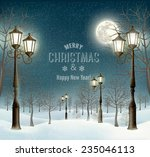 christmas evening winter... | Shutterstock .eps vector #235046113