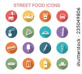 street food long shadow icons ... | Shutterstock .eps vector #235049806