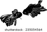 goldfish isolated on white... | Shutterstock .eps vector #235054564