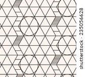seamless pattern. geometric... | Shutterstock .eps vector #235056628