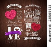 save the date for your personal ... | Shutterstock .eps vector #235059838