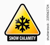 snow calamity danger sign | Shutterstock .eps vector #235062724