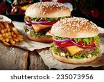 Two Cheeseburgers On Sesame...