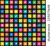 100 arrows icons set  black ...