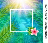 tropical background with palm... | Shutterstock .eps vector #235077898