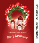 christmas gifts background    Shutterstock .eps vector #235085368