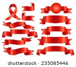 the collection red ribbons... | Shutterstock .eps vector #235085446