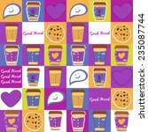 vector cute coffee cup pattern. | Shutterstock .eps vector #235087744