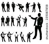set of businessman in different ... | Shutterstock .eps vector #235087858
