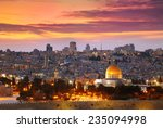 view of jerusalem old city.... | Shutterstock . vector #235094998