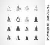 christmas tree icons set | Shutterstock .eps vector #235096768