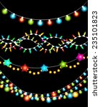 set of colorful christmas... | Shutterstock . vector #235101823