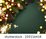 art christmas greeting card | Shutterstock . vector #235116418