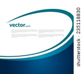 vector blue curves background.... | Shutterstock .eps vector #235118830