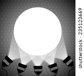 Spotlight Projecting To Blank...