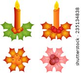 isolated christmas candles and... | Shutterstock .eps vector #235134838