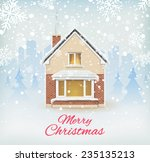 Detailed  Winter House On ...