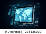 an internet server computer... | Shutterstock . vector #235136020