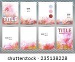 set of templates brochure ... | Shutterstock .eps vector #235138228
