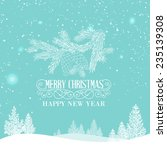 merry christmas landscape with... | Shutterstock .eps vector #235139308