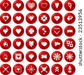 heart button set | Shutterstock .eps vector #23513956