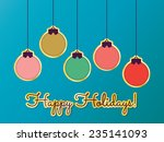 hanging christmas ornaments  ... | Shutterstock .eps vector #235141093