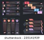 dark paper style infographics...   Shutterstock .eps vector #235141939